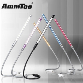 Ammtoo Lampu Belajar LED USB Metal Flexible 10 LED - T2A - Black