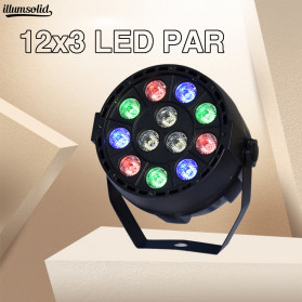 Illumsolid Proyektor LED Lampu Disco Stage Konser RGBW DMX - KD-12 - Multi-Color - 2
