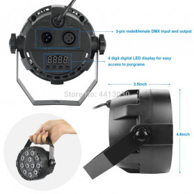 Illumsolid Proyektor LED Lampu Disco Stage Konser RGBW DMX - KD-12 - Multi-Color - 3