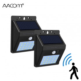 AVACOM Lampu Solar Sensor Gerak Outdoor Weatherproof 20 LED 1 PCS - L23 - Black