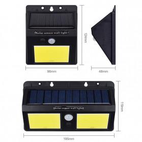 DUOGU Lampu Solar Sensor Gerak Outdoor Weatherproof 96 LED COB - L96 - Black - 5