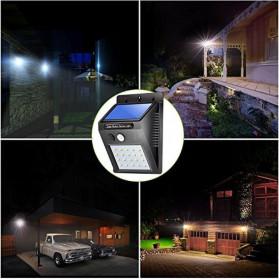 DUOGU Lampu Solar Sensor Gerak Outdoor Weatherproof 96 LED COB - L96 - Black - 6