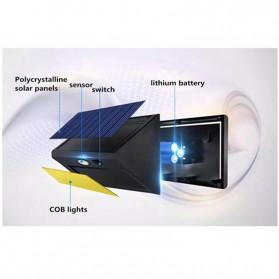 DUOGU Lampu Solar Sensor Gerak Outdoor Weatherproof 96 LED COB - L96 - Black - 7
