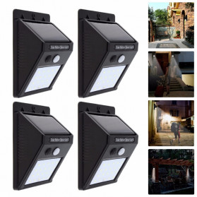 DUOGU Lampu Solar Sensor Gerak Outdoor Weatherproof 96 LED COB - L96 - Black - 8