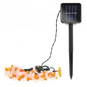 Finether Lampu Taman LED Solar Power Bentuk Lebah 30 LED 6 Meter - BE306 - Warm White - 2