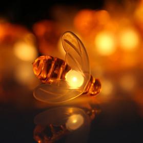 Finether Lampu Taman LED Solar Power Bentuk Lebah 30 LED 6 Meter - BE306 - Warm White - 3