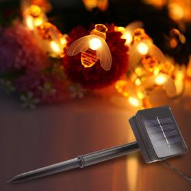 Finether Lampu Taman LED Solar Power Bentuk Lebah 30 LED 6 Meter - BE306 - Warm White - 5