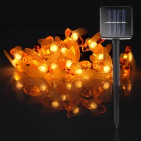Finether Lampu Taman LED Solar Power Bentuk Lebah 30 LED 6 Meter - BE306 - Warm White - 6