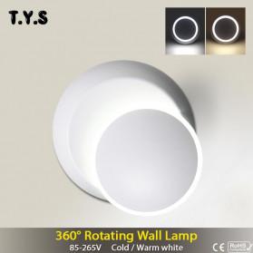 TYS Lampu Hias Dinding LED Minimalis Lunar Eclipse 360 Degree 3000K - W47 - White - 4