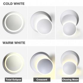 TYS Lampu Hias Dinding LED Minimalis Lunar Eclipse 360 Degree 3000K - W47 - White - 5