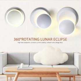 TYS Lampu Hias Dinding LED Minimalis Lunar Eclipse 360 Degree 3000K - W47 - White - 6