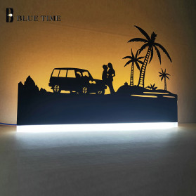 Blue Time Lampu Hias Dinding LED Siluet Pemandangan 12W - WLA8300 - Black