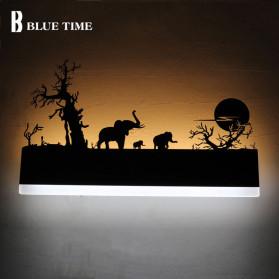 Blue Time Lampu Hias Dinding LED Siluet Pemandangan 12W - WLA8300 - Black - 3