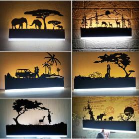 Blue Time Lampu Hias Dinding LED Siluet Pemandangan 12W - WLA8300 - Black - 4