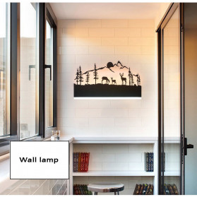 Blue Time Lampu Hias Dinding LED Siluet Pemandangan 12W - WLA8300 - Black - 6