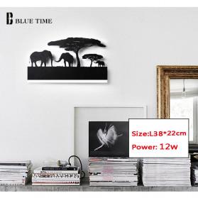 Blue Time Lampu Hias Dinding LED Siluet Pemandangan 12W - WLA8300 - Black - 7