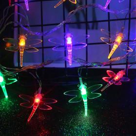 YUSHILED Lampu Hias Dekorasi Dragonfly 20 LED 5 Meter with Solar Panel - M088 - Warm White - 3