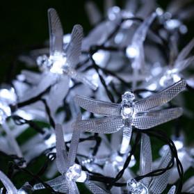 YUSHILED Lampu Hias Dekorasi Dragonfly 20 LED 5 Meter with Solar Panel - M088 - Warm White - 5