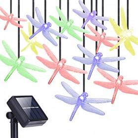 YUSHILED Lampu Hias Dekorasi Dragonfly 20 LED 5 Meter with Solar Panel - M088 - Multi-Color - 2