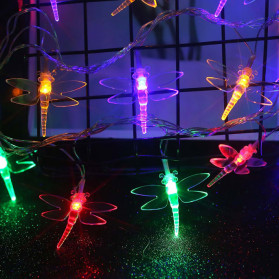 YUSHILED Lampu Hias Dekorasi Dragonfly 20 LED 5 Meter with Solar Panel - M088 - Multi-Color - 3