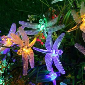 YUSHILED Lampu Hias Dekorasi Dragonfly 20 LED 5 Meter with Solar Panel - M088 - Multi-Color - 4