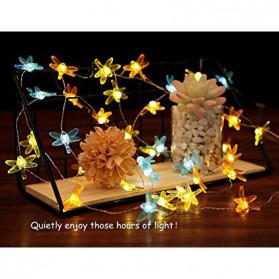 YUSHILED Lampu Hias Dekorasi Dragonfly 20 LED 5 Meter with Solar Panel - M088 - Multi-Color - 6