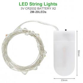 ANBLUB Lampu Hias Dekorasi 20 LED 2 Meter - 2G22 - Warm White - 2