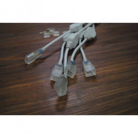 Kabel Modul untuk Lampu LED Strip 2835 220V EU Plug - White - 4