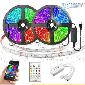 Lampu Rumah - GOOLOOK Lampu LED Strip Disco Music Mode RGB 10M with Controller + Remote - GL3 - White