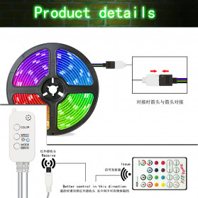 GOOLOOK Lampu LED Strip Disco Music Mode RGB 10M with Controller + Remote - GL3 - White - 2