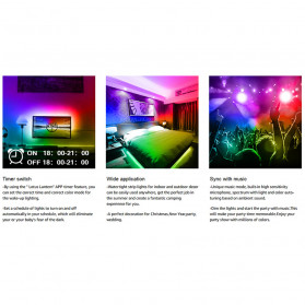 GOOLOOK Lampu LED Strip Disco Music Mode RGB 10M with Controller + Remote - GL3 - White - 9