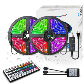 Lampu Rumah - GOOLOOK Lampu LED Strip RGB 10M with Controller + IR Remote - GL2 - White