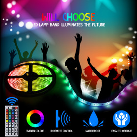 GOOLOOK Lampu LED Strip RGB 10M with Controller + IR Remote - GL2 - White - 2