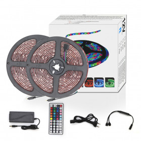 GOOLOOK Lampu LED Strip RGB 10M with Controller + RF Remote - GL1 - White