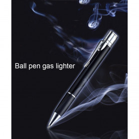 OLOEY 2 in 1 Korek Api Gas Lighter Desain Pulpen - L1041 - Black