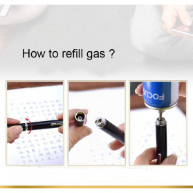 OLOEY 2 in 1 Korek Api Gas Lighter Desain Pulpen - L1041 - Black - 4