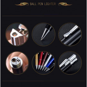 OLOEY 2 in 1 Korek Api Gas Lighter Desain Pulpen - L1041 - Black - 7