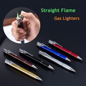OLOEY 2 in 1 Korek Api Gas Lighter Desain Pulpen - L1041 - Black - 8