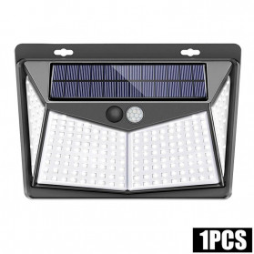 AMARYLLIS Lampu Solar Panel Sensor Gerak Outdoor Waterproof 208 LED Cool White 1 PCS - 1999XYX - Black