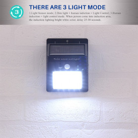 konesky Lampu Solar Sensor Gerak Outdoor Weatherproof 25 LED 6500K - L20 - Black - 3