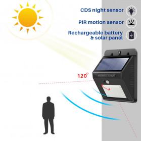 konesky Lampu Solar Sensor Gerak Outdoor Weatherproof 25 LED 6500K - L20 - Black - 4