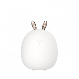 Zokon Lampu Tidur LED Silicone Lamp Model Rabbit - ZK11 - White