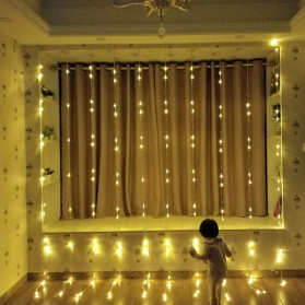 Kaslam Lampu Dekorasi Dinding Waterfall Meteor Shower Light 3x3Meter 320 LED - 320L - Warm White