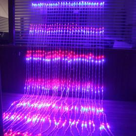 Kaslam Lampu Dekorasi Dinding Waterfall Meteor Shower Light 3x3Meter 320 LED - 320L - Blue - 4