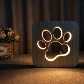 Blue Time Lampu Hias LED 3D Model Cat Paw 3W - F0015