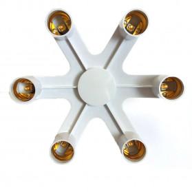 SAFIN Fitting E27 Cabang 6 Lampu Bohlam Studio - EEE3342C - White - 2