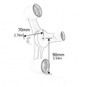 SAFIN Fitting E27 Cabang 6 Lampu Bohlam Studio - EEE3342C - White - 4