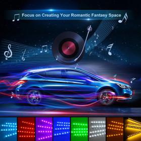MAHAQI Lampu LED Strip Car Interior Light 72 LED RGB with Remote Control - MAH4 - Black - 2