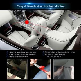 MAHAQI Lampu LED Strip Car Interior Light 72 LED RGB with Remote Control - MAH4 - Black - 5