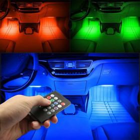 MAHAQI Lampu LED Strip Car Interior Light 72 LED RGB with Remote Control - MAH4 - Black - 8
